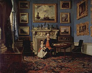 Sir Lawrence Dundas, 1st Baronet - Sir Lawrence Dundas and his grandson Lawrence, painted by Johann Zoffany (around 1775)