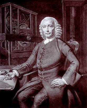 John Harrison - P. L. Tassaert's half-tone print of Thomas King's original 1767 portrait of John Harrison, located at the Science and Society Picture Library, London