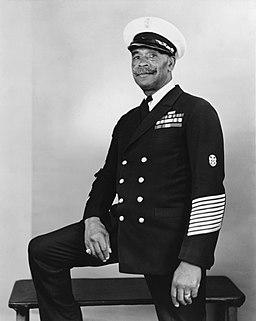 John Henry Turpin, Chief Gunner's Mate, U.S. Navy, circa in the 1940s (NH 89471)