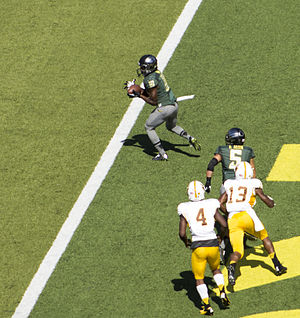 2014 Oregon Ducks football team - Johnathan Loyd, Oregon's winningest men's basketball player, catches his first touchdown pass as an Oregon football player.