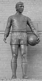The Ibrox Disaster memorial statue, commemorating the 1971 tragedy