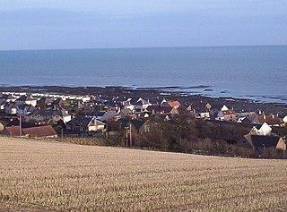 Johnshaven village in Aberdeenshire, UK