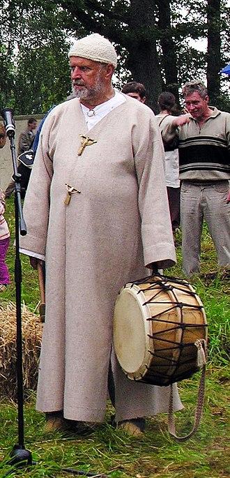 Jonas Trinkūnas - Romuvan Krivis (High Priest) Jonas Trinkūnas at the 2009 Baltic historical re-enactment festival Apuolė-854