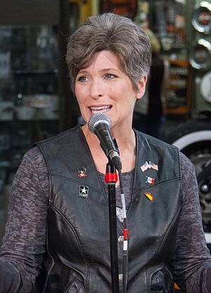 Joni Ernst - Ernst speaking at the 2016 edition of the Roast and Ride.