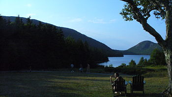 Amazing photo of jordan pond we hiked up acadia earlier this summer