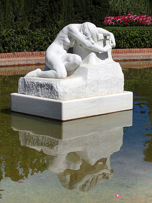 Josep Llimona i Bruguera - Josep Llimona, 1903, Desconsol, white marble, Parc de la Ciutadella, Barcelona