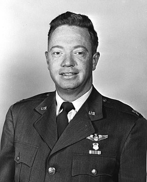 Joseph Kittinger - Colonel Joseph W. Kittinger II, USAF  (pictured as a captain)  First person to conduct stratospheric space diving