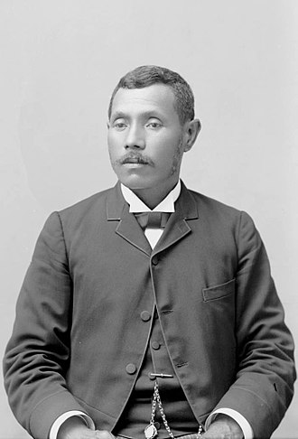 William Pūnohu White - White and Joseph Nāwahī (pictured) became leaders of the Hawaiian National Liberal Party.