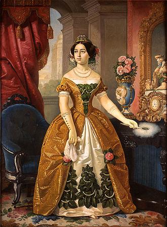Juan Cordero - Portrait of General Antonio López de Santa Anna's wife, Doña Dolores Tosta de Santa Anna. (1855)