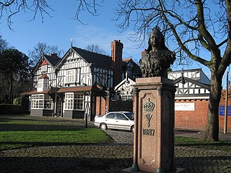 Gateacre - The Jubilee Memorial is located on Gateacre's village green, in front of the Black Bull pub