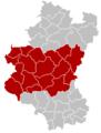Judicial Arrondissement Neufchâteau Belgium Map.png