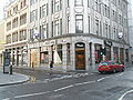 Junction of Lime and Fenchurch Streets location of St Dionis Backchurch.JPG