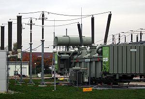 Transformer oil - Image: Kändelweg Umspanner