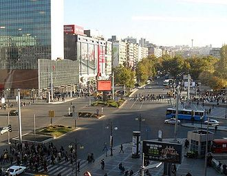 March 2016 Ankara bombing - Bus stops on Atatürk Boulevard, targets of the bombing
