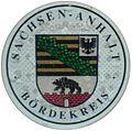 KFZ-Zulassungsplakette des Landkreises Börde-neu.JPG