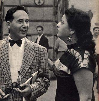 Yehiel De-Nur - De-Nur and his wife in Rome, 1959