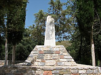 Kallikratis - Monument of the 1943 executions.