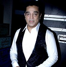 A picture of Kamal Haasan as he looks at the camera.