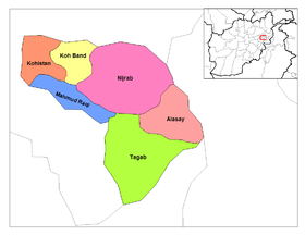 Carte des districts de la Kapisa