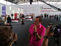 Karim Rashid talks to press at Innoprom-2012.jpg