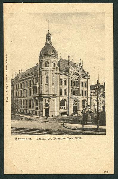 File:Karl F. Wunder PC 0774 Hannover. Neubau der Hannoverschen Bank. Bildseite.jpg
