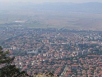 Karlovo - Karlovo viewed from Stara Planina
