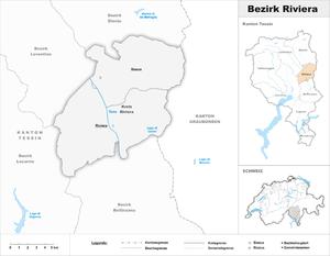 Riviera District - Image: Karte Bezirk Riviera 2017