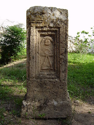 Religion in Carthage - Stele from the Tophet of Salammbó showing a Tanit symbol