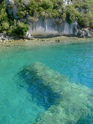 Kekova - Ruins under the water on the shores of Kekova Island