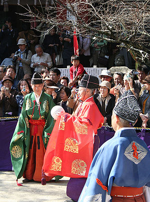 Kemari - A game of Kemari at Tanzan Shrine