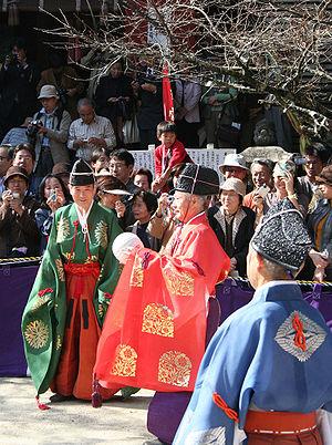 Kemari - A game of Kemari at Tanzan Shrine