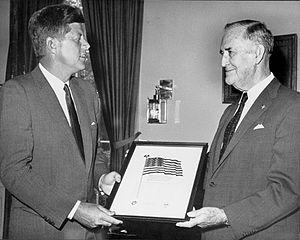 Luke E. Hart - President John F. Kennedy and Luke E. Hart in 1961