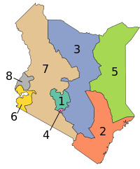 Kenya Provinces numbered.svg