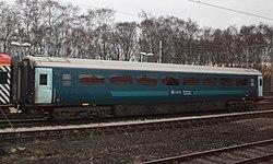 Keolis Amey Mark 3 TSO 12185 at Crewe Carriage Shed (Arriva livery).JPG
