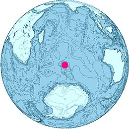 Location of Heard and McDonald Islands