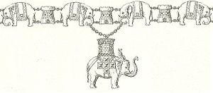 Howdah - The collar of the Order of the Elephant.