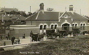 Kew, Victoria - The street side of the former Kew station