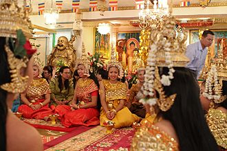 Buddhism in Cambodia - Cambodian New Year celebrations