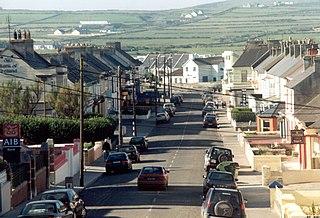 Kilkee Town in Munster, Ireland