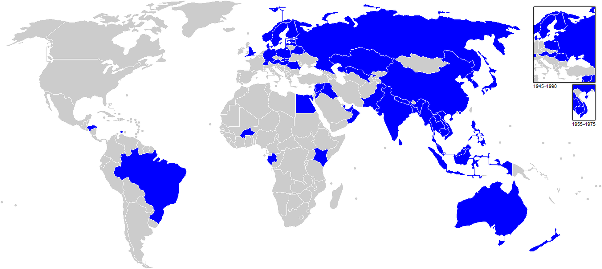The map shows countries who participant in King's Cup. King's cup participate.png