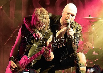 Helloween - Former members Kai Hansen (left) and Michael Kiske re-joined the band in 2016 for the Pumpkins United World Tour.