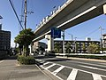 Kitakyushu Monorail on west side of Kikugaoka Station.jpg