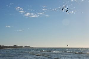 Rye, Victoria - Kitesurfing at Rye, Rye pier in background
