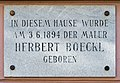 Klagenfurt Viktringer Ring 11 Geburtshaus von Herbert Boeckl Gedenktafel 14082016 4177.jpg
