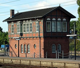 railway station in Gentofte Municipality, Denmark