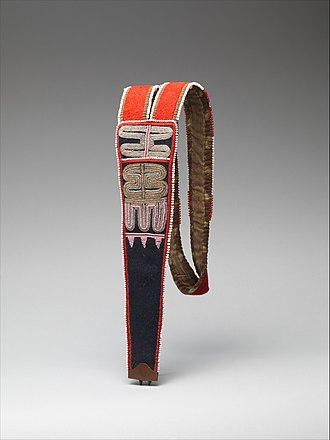 Tahltan - Unknown Tahltan artist, Beaded knife sheath, collection of the Metropolitan Museum of Art, gift of Ralph T. Coe.