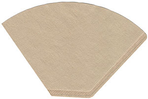 Coffee filter - Cone-type coffee filter, made of unbleached paper