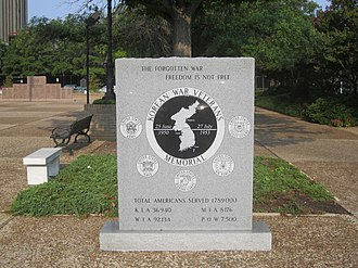 Smith County, Texas - Korean War Memorial in Tyler plaza