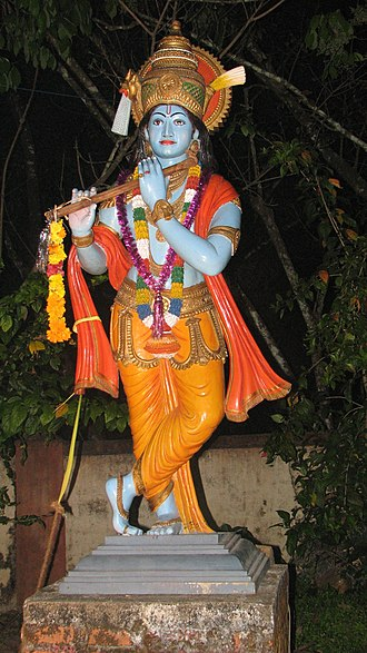 Hindu denominations - Vaishnavism focuses on an avatar of Vishnu, such as Krishna above