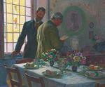 Kristian Zahrtmann - Før frokosten i Civita d'Antino - 1911.png